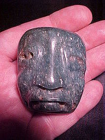 Olmec Fuchsite Maskette with video