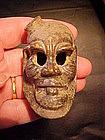 Pre-Columbian Ceramic Head C250BC-250AD Ex. Leutze