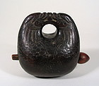 Carved Chinese Wooden Muyu, 18th C. Qing