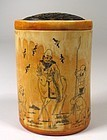 Fine Chinese Ivory & Tortoise Cricket Box, Qing