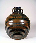 Chinese Jin Dynasty Brown & Black Glazed Stoneware Pot