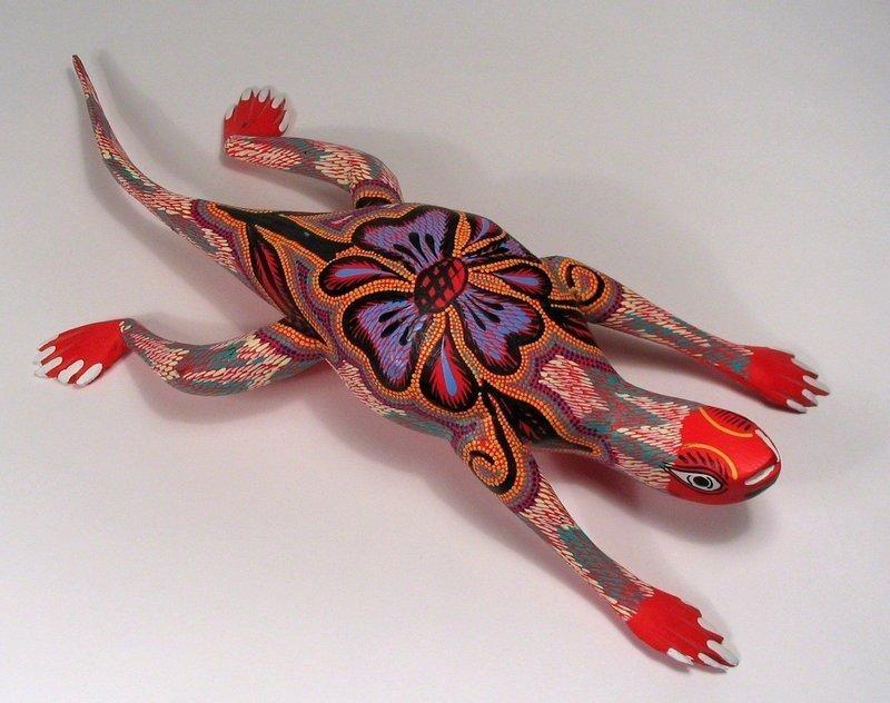 Oaxacan Folk Art Alebrije Lizard by Sergio & Hugo Santiago