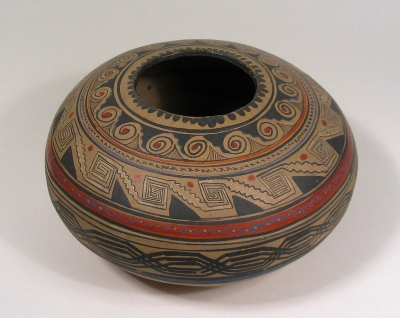 Vintage Navajo Pottery Seed Bowl