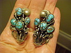 FRANK PATANIA SR. BISBEE TURQUOISE EARRINGS