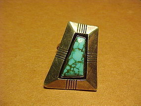 NAVAJO JOHNNY MIKE BEGAY WHITE HOGAN RING