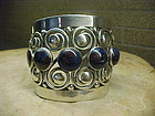 GORGEOUS FRANK PATANIA SR. STERLING AZURITE BRACELET