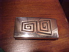 COCHITI JOE H. QUINTANA STERLING BELT BUCKLE