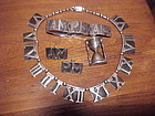 "VINTAGE MARGOT DE TAXCO ""AM PM"" NECKLACE BRACELET EARRINGS"