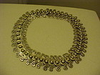 VINTAGE LOS CASTILLO PRE COLUMBIAN DOUBLE SWIRL NECKLACE