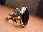 HECTOR AGUILAR STERLING ONYX RING