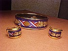 VINTAGE HERMES ENAMEL BANGLE BRACELET and EARRINGS