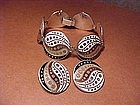 MARGOT DE TAXCO ART DECO ENAMEL BRACELET & EARRINGS