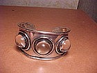 MARY GAGE ARTS&CRAFTS PERIOD STERLING ROCK CRYSTAL CUFF