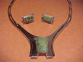 """VINTAGE ERIKA HULT DE CORRAL """"RIC""""NECKLACE AND EARRINGS"""
