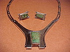 "VINTAGE ERIKA HULT DE CORRAL ""RIC""NECKLACE AND EARRINGS"