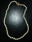 Vintage 21 in Pearl Necklace 14K Gold Sapphire Clasp
