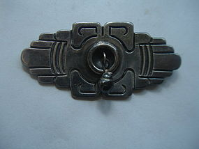 Mexican Sterling Taxco Rafael Dominguez Brooch 980