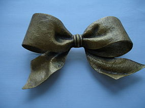 Joseff of Hollywood Huge Russian Gold Bow Brooch