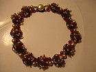 Vintage Louis Rousselet France Poured Glass Necklace