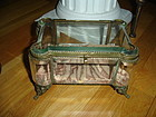 Victorian Beveled Glass French  Jewelry Casket  ~ Large