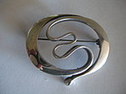 Norway Modernist Sterling Brooch David Andersen Uni
