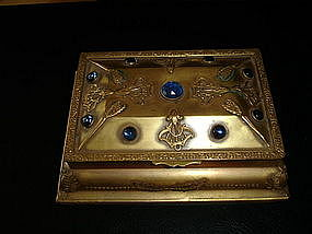 Jeweled Ormolu Jewelry Casket Box