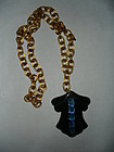 Art Deco Bakelite Pendant Celluloid Necklace ~ Changer