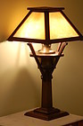 Gustav Stickley Lamp Large slag glass C:1906