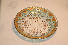 Moser Bohemian glass hand painted plate C:1885