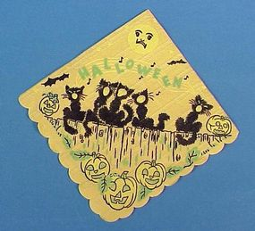 Vintage Halloween Paper Cocktail Napkins