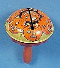 Vintage Tin Litho Halloween Rattle Noisemaker