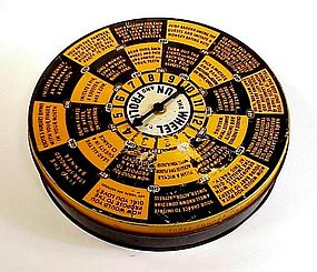 1930s Halloween Tin Litho Candy Box Spinner Game