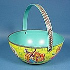 J. Chein Lithographed Tin Easter Basket