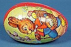Papier-Mache Easter Egg Candy Container