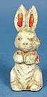 Hubley Cast Iron Easter Rabbit Figurine
