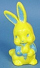Hard Plastic Easter Bunny Toy Rattle
