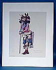 K. Tuvahoema Native American Silkscreen Print