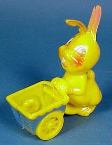 Hard Plastic Easter Bunny Candy Container