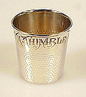 Vintage Sterling Silver Thimble Shot Glass Jigger