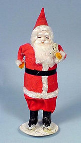 Old Composition & Fabric Santa Claus Figure