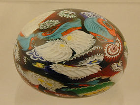 Galiano Ferro Murano Murrine Paperweight