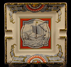 "Hermes Porcelain Ashtray Nautical ""Patchwork"""