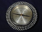 Hermes Paris Sterling Silver Compass Paperweight