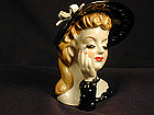 Head Vase - Lady with Hat