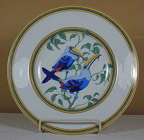 "Hermes ""Toucans"" Soup Bowl"