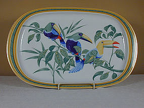 "Hermes ""Toucans"" Oval Serving Platter"