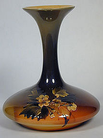 Rookwood Floral Vase Artist Signed MLP Dated 1895