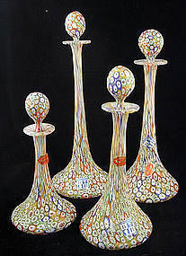 Graduated Decanter Set  in Millefiore