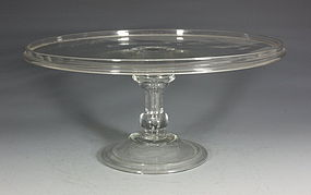 Fine English Glass Tazza C1720/40