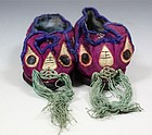 PAIR OF CHINESE EMBROIDERED SILK CHILDS SHOES E20THC